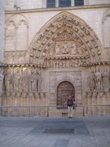 Phil at side door to the Burgos Cathedral.