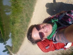 Cherry selfie on the Camino.