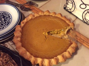 Homemade pumpkin pie.  Yum!