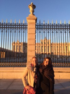 Alida on left and Anamaria in Madrid.