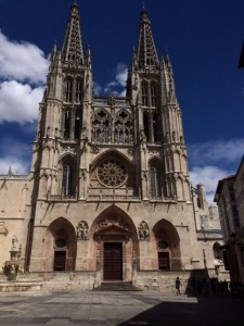 Burgos Cathedral with Anamaria.