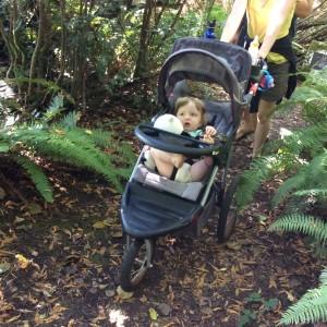 Grandson Osian on the trail.