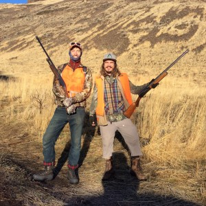 James and Wiley, young men with strong legs and good hearts searching for game birds.