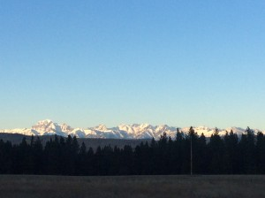 The North Cascade Mountains.