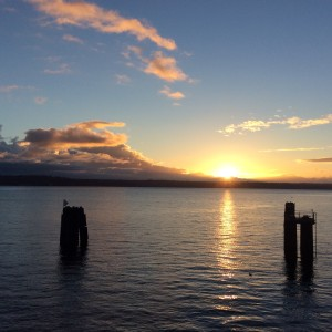 Sunrise from Vashon Island from a few months ago.