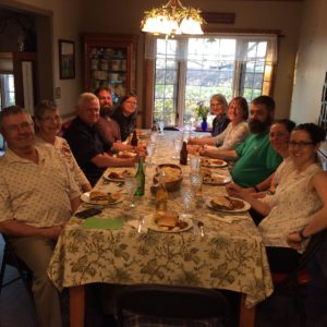 Here are the some of the adult's from the Conway clan last night at dinner.