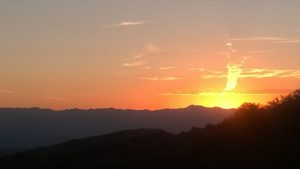 Mexican sunset from our new buddy Robert.  Like those Wiley Coyote , Roadrunner clouds.
